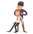 hostage criminal thief gun character crime threat vector image vector image