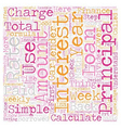 How Do I Calculate Finance Charges text background vector image vector image