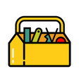 icon toolbox with tools vector image