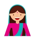 indian woman culture icon vector image vector image