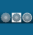 laser cut mandala coaster or wall art panel cnc vector image vector image
