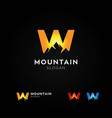 letter w mountain logo vector image vector image