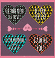 lettering valentines day in hearts 5 vector image vector image
