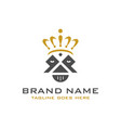 logo king head and crown vector image