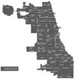 map chicago district vector image