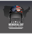 military helmet with usa flag to memorial day vector image vector image