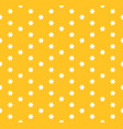 minimalist floral yellow seamless pattern vector image