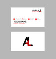 modern creative business card template with al vector image vector image