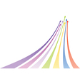 Multicolored arrows vector image