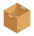 opened box icon isometric style vector image
