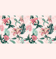 original trendy seamless artistic flower pattern vector image