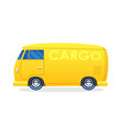 retro van for cargo transportation in flat style vector image