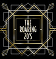 roaring 20s luxury art deco frame background vector image vector image
