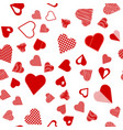 romantic red heart seamless pattern vector image vector image