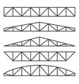 roof metal trusses constructions set on white vector image vector image