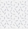 seamless outline glasses minimal pattern vector image