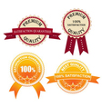 Set of Quality Labels vector image vector image