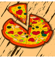 sliced pizza vector image vector image