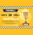 soccer football poster design football vector image vector image