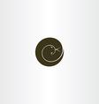 Spiral snake icon logo symbol element