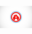 star house icon logo vector image