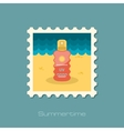 Sun Cream in Spray flat stamp vector image vector image