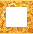 sunflower ball watercolor banner card vector image