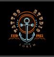 tattoo studio logo estd 1985 retro styled emblem vector image vector image