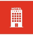 The Hotel icon Travel symbol Flat vector image vector image
