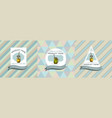 three colored labels with smothie vector image vector image