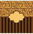 tiger skin background vector image vector image