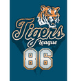 Tiger sports league jersey print