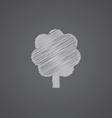 tree sketch logo doodle icon vector image