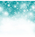 turquoise snowflake backgroundchristmas snowfall vector image vector image