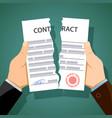 two men breaking contracts vector image