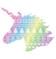 unicorn shape on nordic xmas pattern vector image vector image