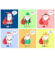 usa and ireland santa clauses vector image vector image