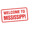 welcome to Mississippi red grunge square stamp vector image vector image