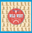 wild west card with cowboy boots decoration vector image vector image
