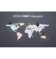 World map beautiful and trendy background vector image vector image