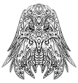 Zentangle stylized eagle head vector image vector image