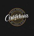 california hand written lettering vector image