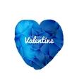 blue valentine watercolor triangle heart vector image