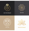 abstract badges and emblems in trendy linear style vector image