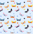 abstract hand drawn butterfly seamless pattern vector image