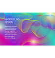 abstract vibrant background with iridescent vector image vector image
