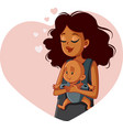 african mother holding newborn in bawearing vector image vector image