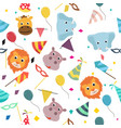 animals carnival colorful party pattern vector image vector image