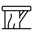 backless bench icon outline style vector image vector image