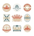 Bakery shop vintage isolated label set vector image vector image